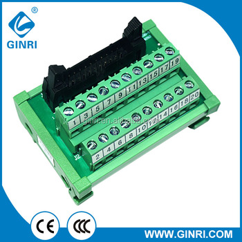 Jr-20tbc Breakout Board 20p Mil Idc Connection Din Rail Terminal Block  Relay 1a Adapter Board - Buy Breakout Board,24v Relay Board,Terminal Block