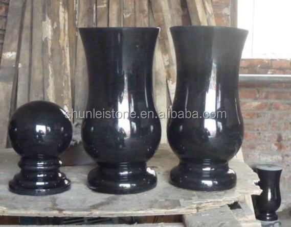 Black Stone Granite Flower Vases For Graves Buy Granite Flower