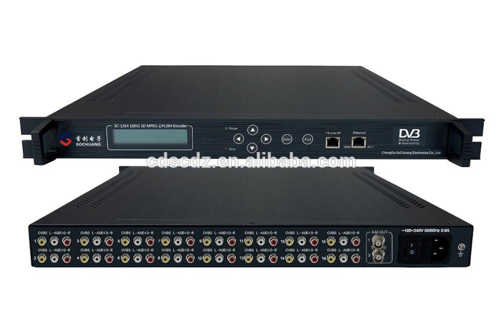 SC-1314 Digital TV Broadcast and IPTV equipment H264 AV encoder