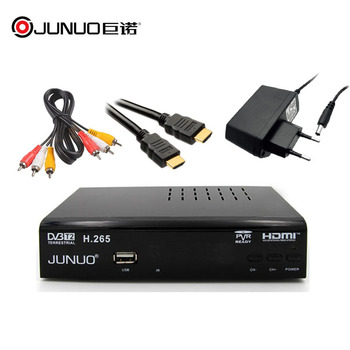 JUNUO 1505b dvb-t2 h265 set top box for Italy firmware upgrade dvb-t2 decoder
