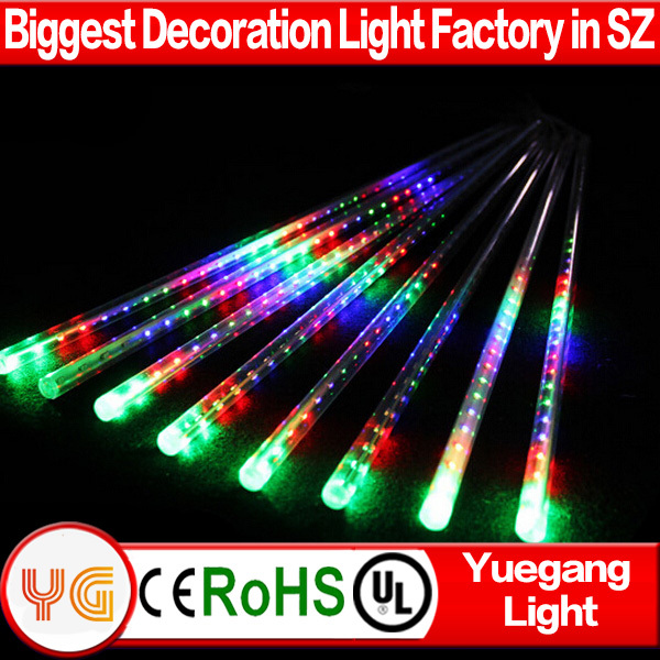 new style waterproof led meteor shower lights outdoor led christmas double sides meteor starfall led tube light buy meteor starfall led tube light