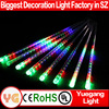 New style waterproof led meteor shower lights outdoor led Christmas double sides meteor starfall led tube light