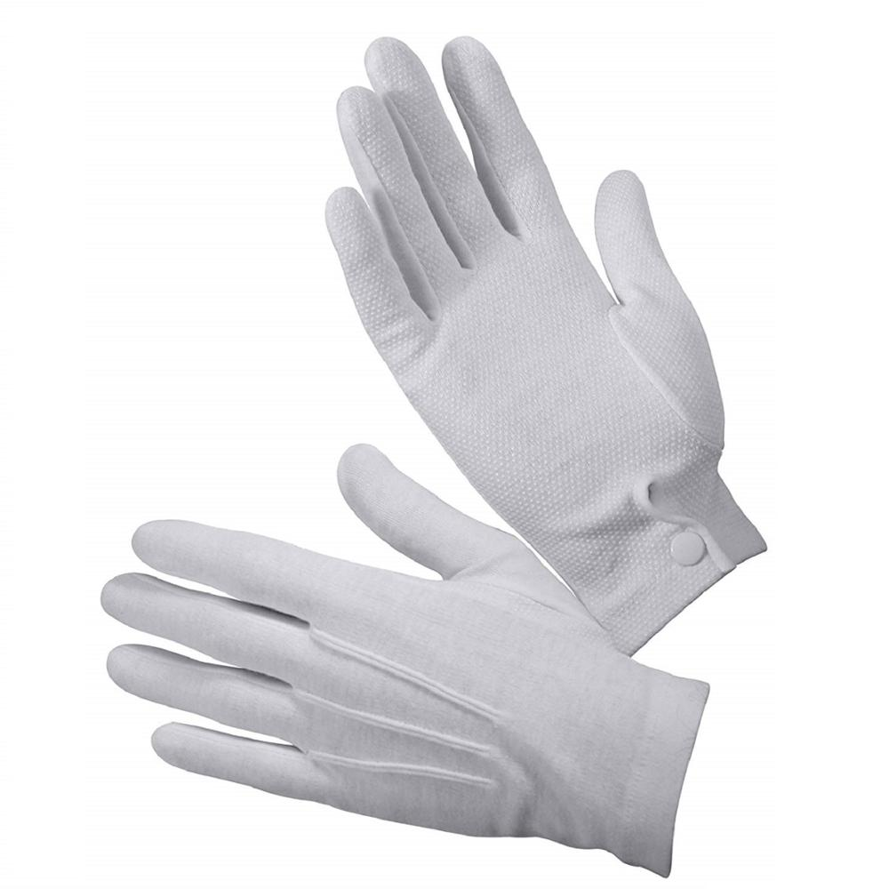 White Cotton Nylon Masonic Services Police Parade Magic Ceremonial Gloves