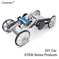 Technology education products 4WD climbing diy car kit, intelligent diy assembly car toys