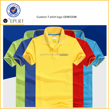 short sleeve style custom logo label printing t-shirt polo