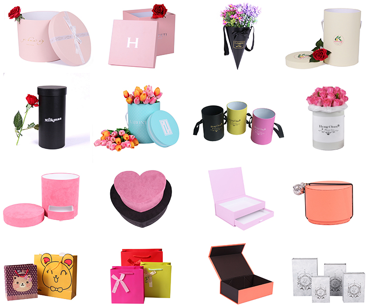 Different Design Cardboard Luxury Packaging Box For Flowers with custom Logo