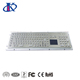 Waterproof metal industrial keyboard with touch pad,function keys and number keypad