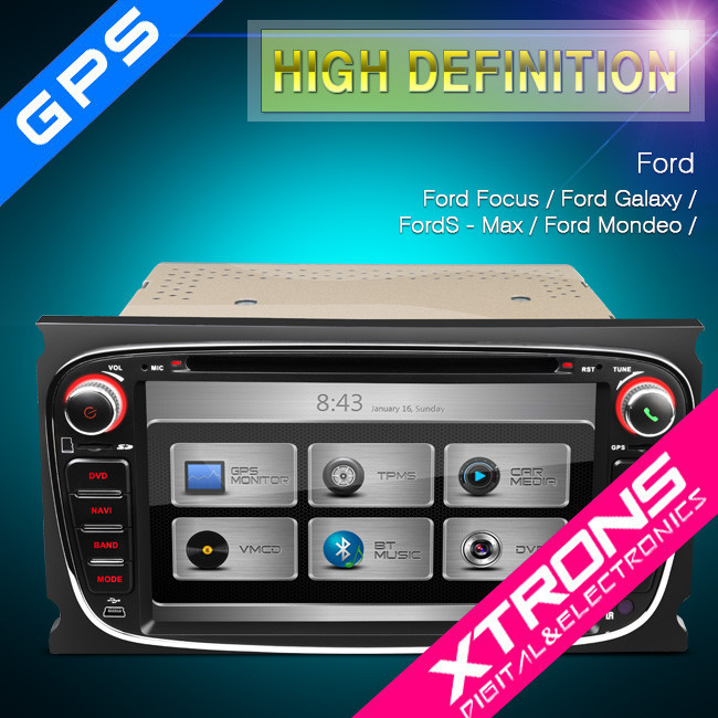 xtrons px71fsf b 7 bluetooth voiture st r o dvd avec cam ra de recul pour ford avec gps canbus. Black Bedroom Furniture Sets. Home Design Ideas