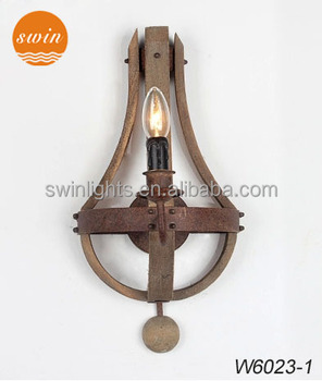 Retro Wood Wall Sconce 1 Light Antique Rustic Iron Lamp In China Rh Product On