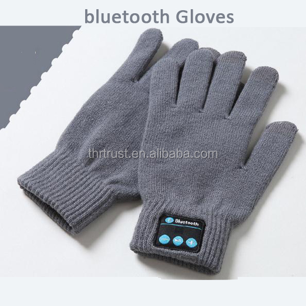 2016 high quality Bluetooth Pair hand Glove With Microphone Headset Talk Speaker For Iphone 6s plus