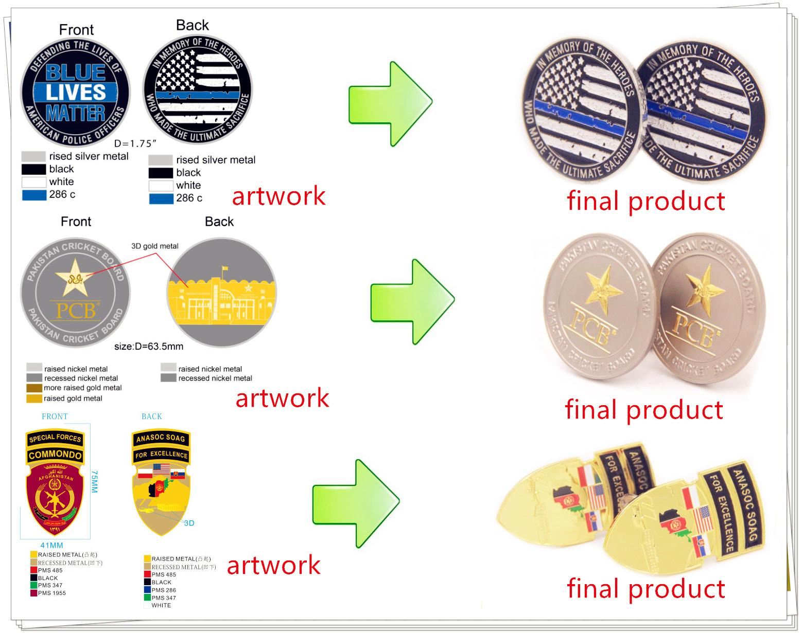 Direto Da fábrica Personalizado 3D Desafio Moeda Comemorativa de Ouro Em Branco Com Esmalte Macio
