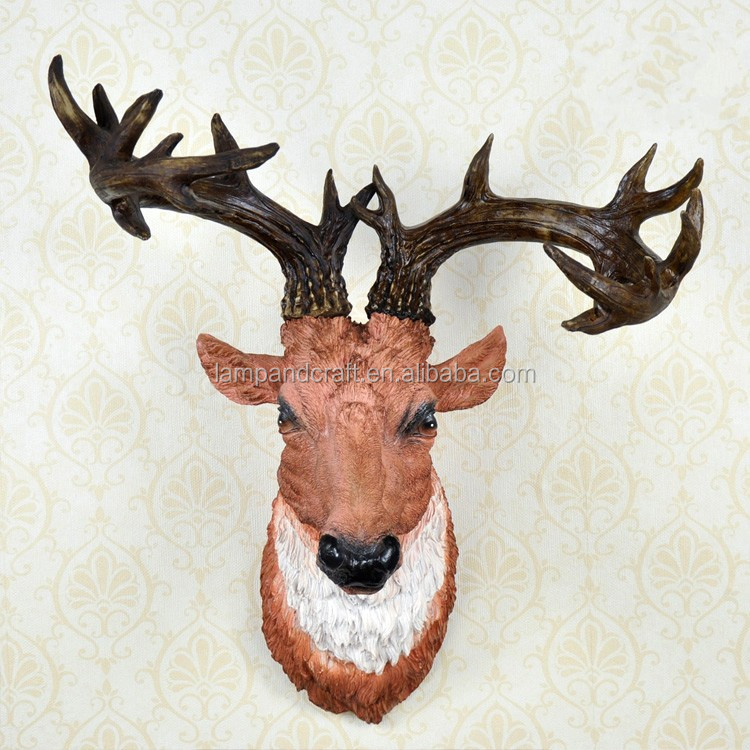 Usa 3d Animals Chrismas Deer Themed Home Decorations With Gold Brown