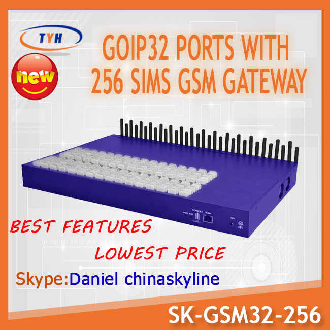 32 port 256 sim card gsm gateway Relay Encryption Solution fast and powerful providers international calls