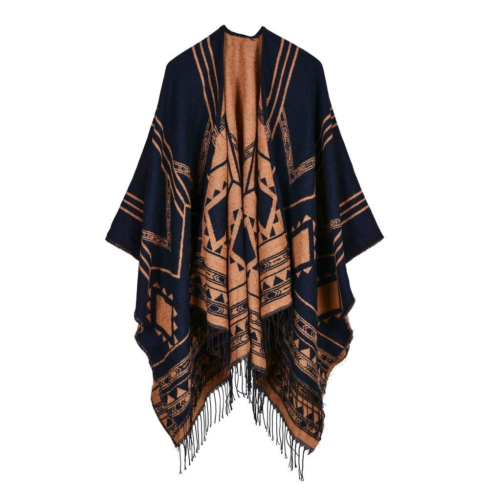 7182a293d3d87 Get Quotations · Winter Shawl-ViewHuge Lady Women's Vintage Bohemian Tassel  Knit Soft Warm Thicken Blanket Scarf Poncho