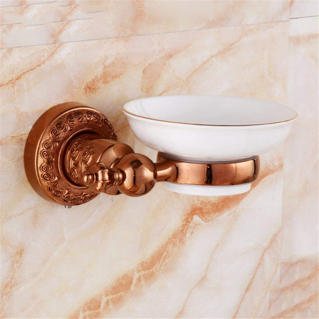 LAONA European-style rose gold-copper pipe carved wall in the bathroom suite bath towel rack antique Towel racks, soap dish