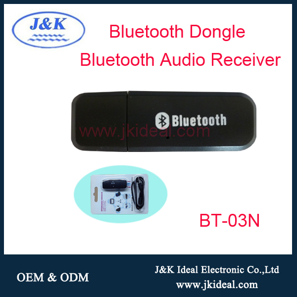 BT-03N High quality 3.5mm jack bluetooth adaptor with usb port