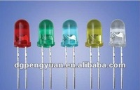 High Quality 3mm 5mm 8mm10mm Round LED water clear LED diodes(Red,Green,Blue,Yellow,Amber,White)