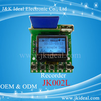 JK002L Recording mp3 LCD audio player with IR remote control