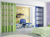 Baby Bedroom Partition Glass PVC Folding Doors