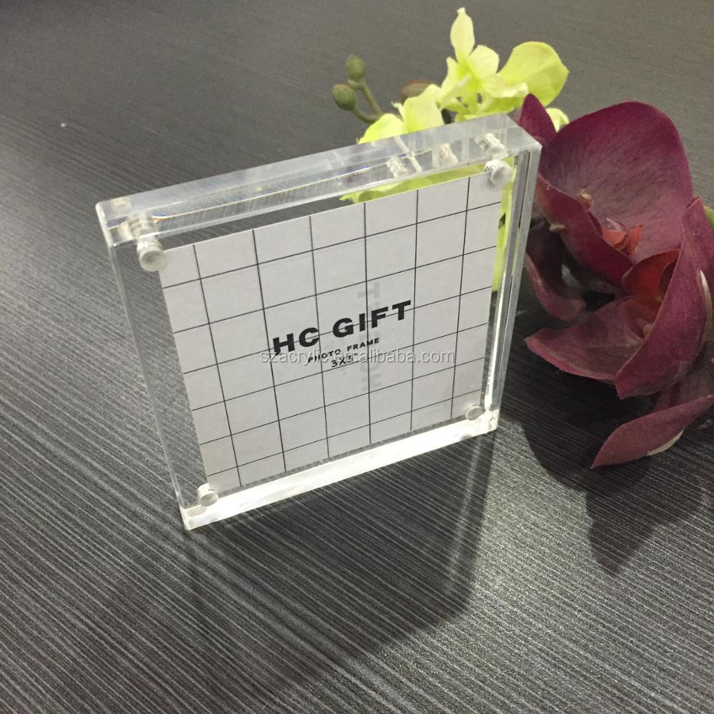 Magnetische Acryl Rahmen 3x3,Acryl Magnetischen Fotoblock,Magnet ...