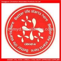 flower round soft pvc logo coaster