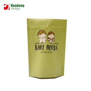 High End Custom Printing Herb Bags Loose Leaf Packaging Stand Up Pouch