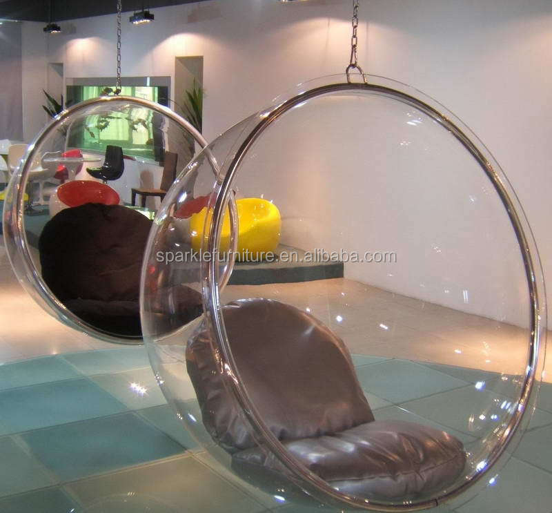 Hanging Bubble Chairs For Bedrooms With Leather Pads.