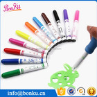 kids extrusion blow style watercolor ink paint marker pen with plastic template