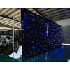 Wholesale Customized size table cloth with led lights/ flexible led mesh curtain