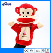 Red Monkey Hand Puppet Toys Plush Educational Kids Toy,push monkey puppets toys