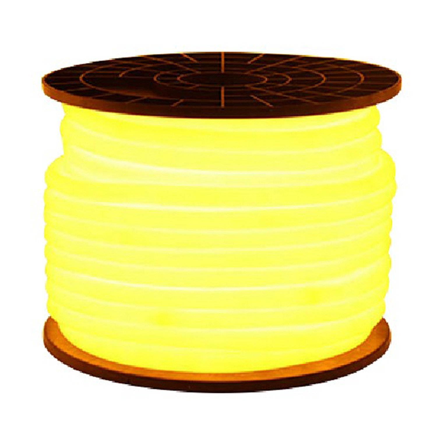 Ruanyi 5M 600LED LED Neon Rope light 2 Wires LED Neon Flex White DIP Led neon Ribbon 220-240V/110-130V LED lighting (Color : Yellow)