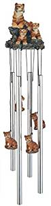 StealStreet SS-G-41933, Round Top Bengal Tiger Hanging Garden Decoration Wind Chime