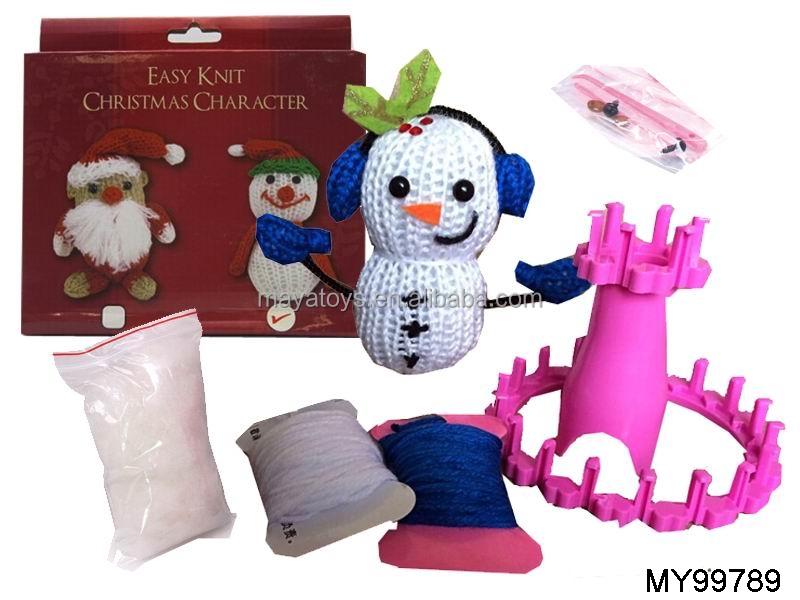 Machine Toys For Girls : New christmas toys for kid diy knitting wool santa
