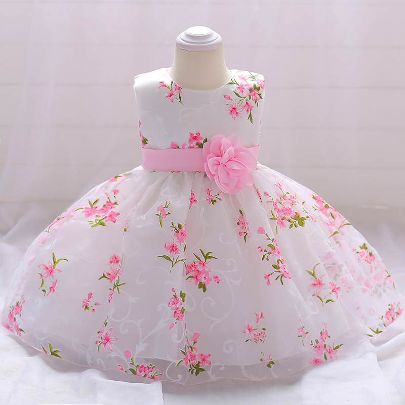 8a4b0eaf32b4 Hot Selling Pretty Baby Frock 12 Month 1 Year Old Girl Clothes First ...