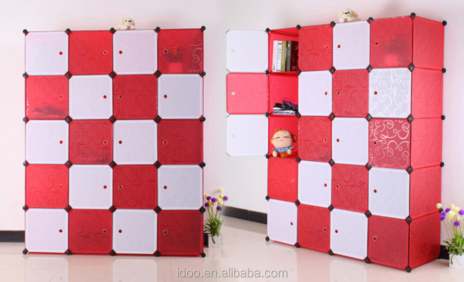 Diy Cubes Magic Pp Plastic Wardrobes Folding Kids Plastic Clothes ...