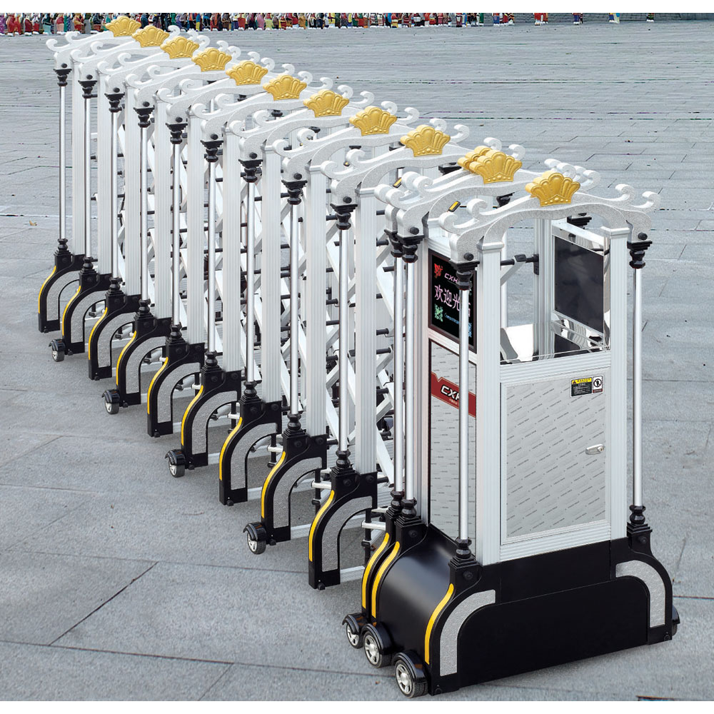 Industrial sliding gate design with powerful electric motor