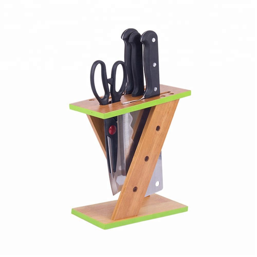 Cheap Bamboo Knife Blocks,Kitchen Scissor Holder Wholesale - Buy Bamboo  Knife Block,Bamboo Knife Holder,Kitchen Knife Holder Product on Alibaba.com