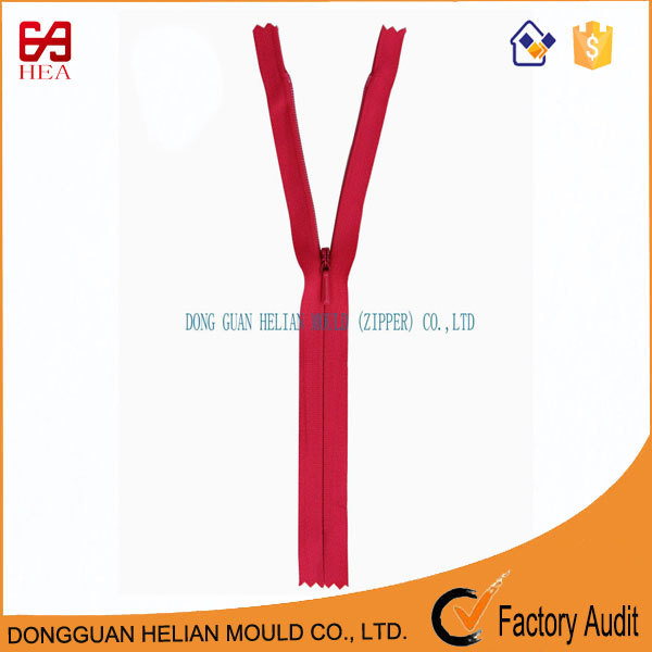 2017 autumn fashionabl custom length 20 cm invisible zip for wholesale zip fasteners