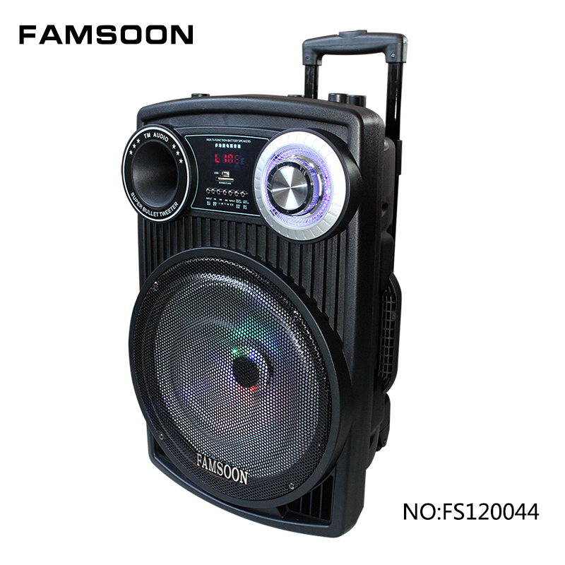 Famsoon powerful rechargeable trolley speaker with usb/sd