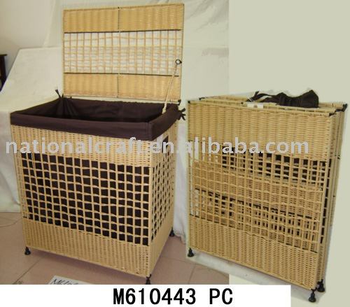 Eco-friendly foldable seagrass laundry hamper