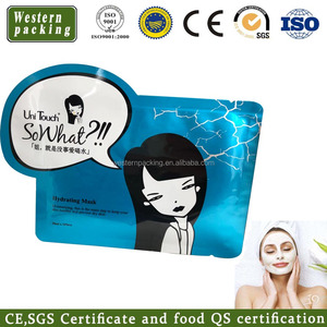 Custom Facial Mask Foil Flat Pouch / Cosmetic Skin Care Cream Sample small Packaging Bag