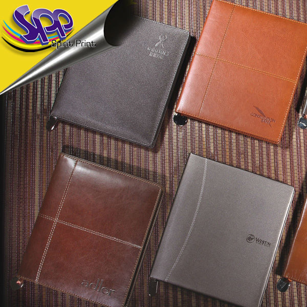 softcover leather notepad for diary planner