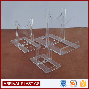 Medium Adjustable Two Part Clear Acrylic Stand Easel, For Agate Slices, Fossils Minerals and other Collectable Display