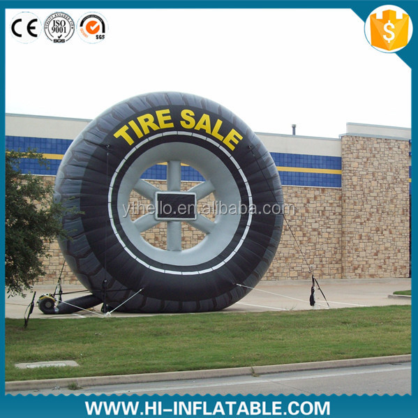 Hot-sale promotional advertising use replica inflatable tyre