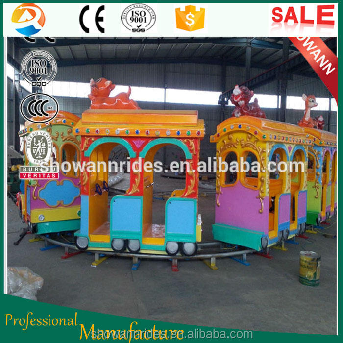 FRP material best sale model electric track train rides