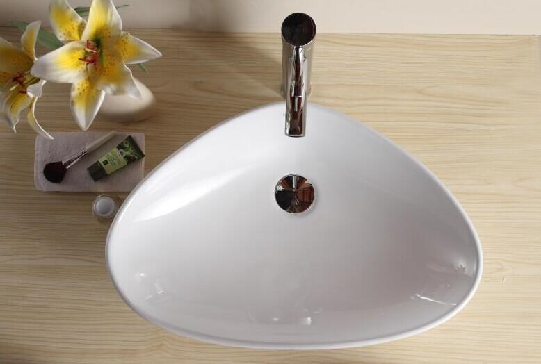 W3003 Ceramic Bathroom Counter Top Hand Wash Basin Design
