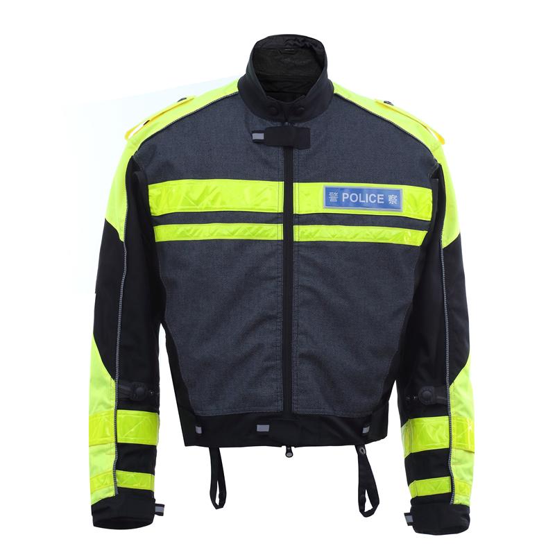 Veste cuir motard police