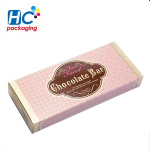 Custom retail logo printed paper chocolate bar packaging