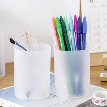 Белая Прозрачная Круглая Простая ручка настольный держатель аксессуары и органайзер для хранения ручек(Китай)