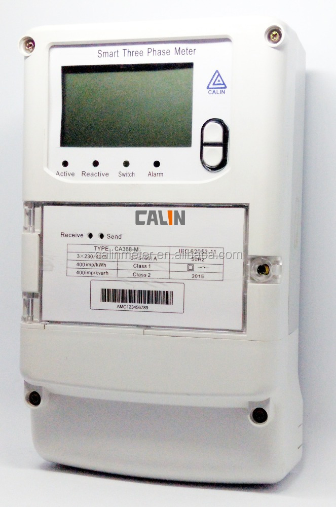 Original Design Three Phase GPRS/RF/PLC Smart remote reading electricity meter with DLMS protocol